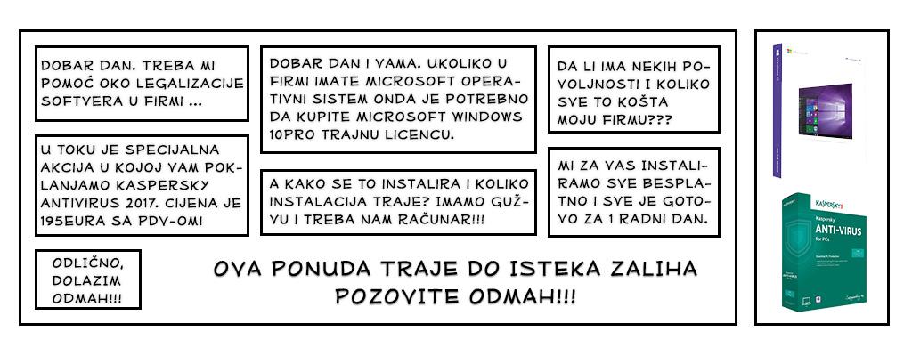 comic fining akcija legalizacije softvera podgorica crna gora
